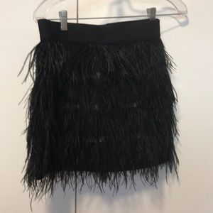 Sparkle and Fade Black Feather skirt